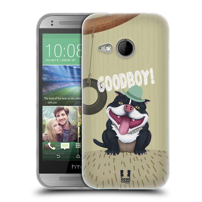 Silikonové pouzdro na mobil HTC ONE Mini 2 HEAD CASE Goodboy! Pejsek (Silikonový kryt či obal na mobilní telefon HTC ONE Mini 2)