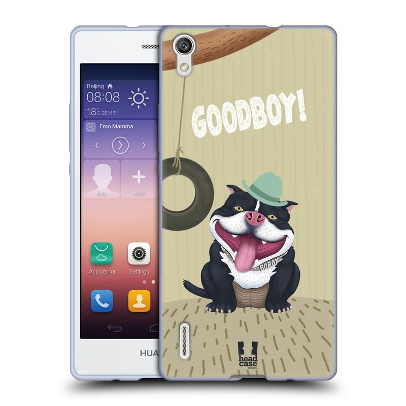 Silikonové pouzdro na mobil Huawei P7 HEAD CASE Goodboy! Pejsek (Silikonový kryt či obal na mobilní telefon Huawei Ascend P7)