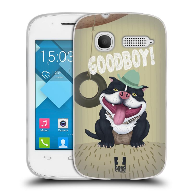 Silikonové pouzdro na mobil Alcatel One Touch Pop C1 HEAD CASE Goodboy! Pejsek (Silikonový kryt či obal na mobilní telefon Alcatel OT-4015D POP C1)