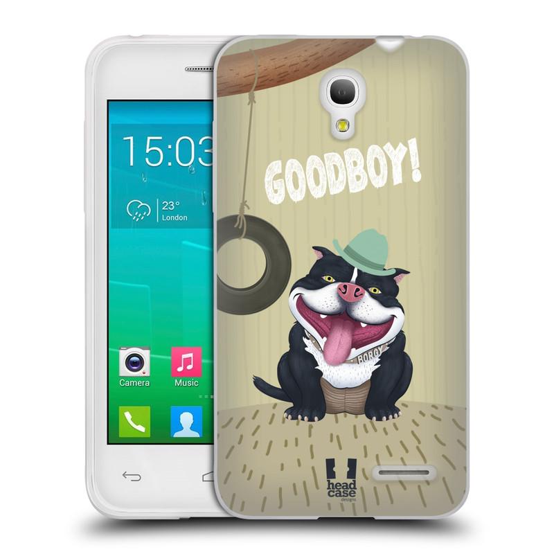 Silikonové pouzdro na mobil Alcatel One Touch Pop S3 HEAD CASE Goodboy! Pejsek (Silikonový kryt či obal na mobilní telefon Alcatel OT- 5050Y POP S3)