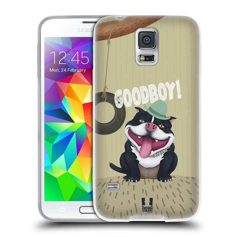 Silikonové pouzdro na mobil Samsung Galaxy S5 HEAD CASE Goodboy! Pejsek (Silikonový kryt či obal na mobilní telefon Samsung Galaxy S5 SM-G900F)
