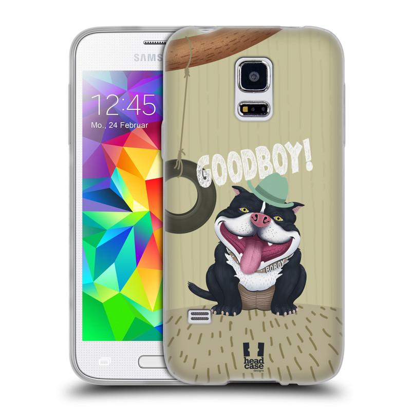 Silikonové pouzdro na mobil Samsung Galaxy S5 Mini HEAD CASE Goodboy! Pejsek (Silikonový kryt či obal na mobilní telefon Samsung Galaxy S5 Mini SM-G800F)