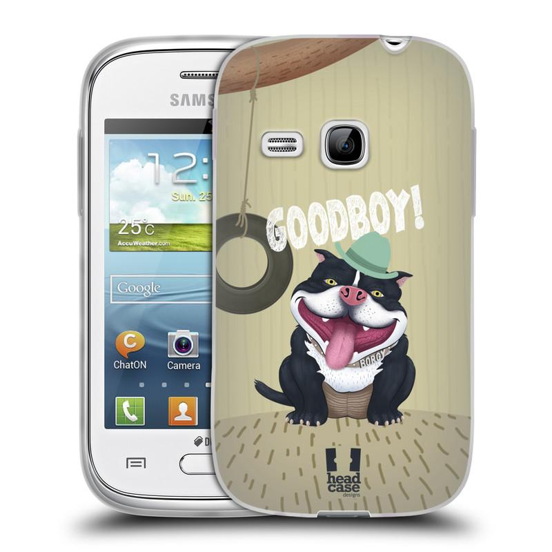 Silikonové pouzdro na mobil Samsung Galaxy Young HEAD CASE Goodboy! Pejsek (Silikonový kryt či obal na mobilní telefon Samsung Galaxy Young GT-S6310)
