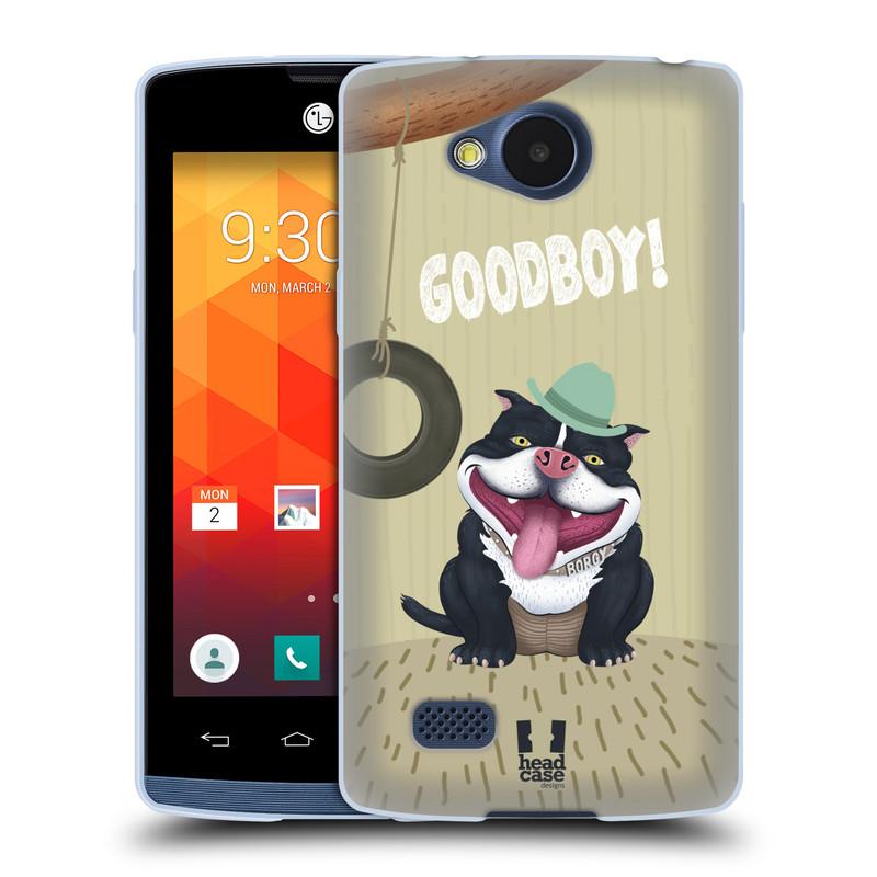 Silikonové pouzdro na mobil LG Joy HEAD CASE Goodboy! Pejsek (Silikonový kryt či obal na mobilní telefon LG Joy H220)