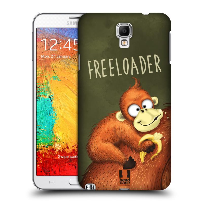 Plastové pouzdro na mobil Samsung Galaxy Note 3 Neo HEAD CASE Opičák Freeloader (Kryt či obal na mobilní telefon Samsung Galaxy Note 3 Neo SM-N7505)