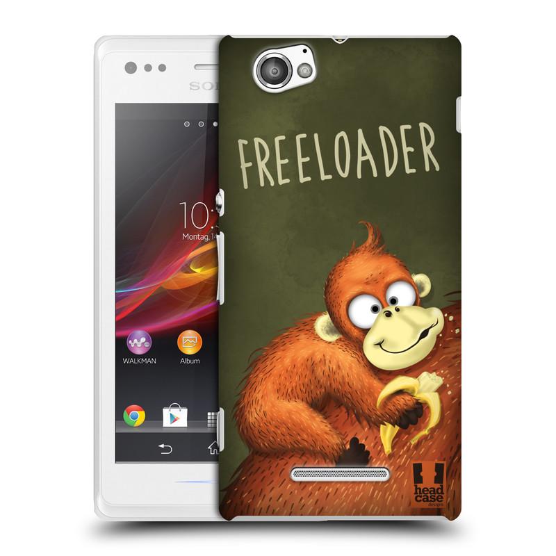 Plastové pouzdro na mobil Sony Xperia M C1905 HEAD CASE Opičák Freeloader (Kryt či obal na mobilní telefon Sony Xperia M )