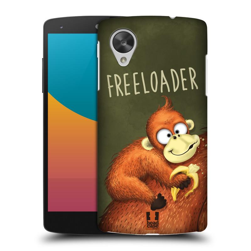 Plastové pouzdro na mobil LG Nexus 5 HEAD CASE Opičák Freeloader (Kryt či obal na mobilní telefon LG Google Nexus 5 D821)