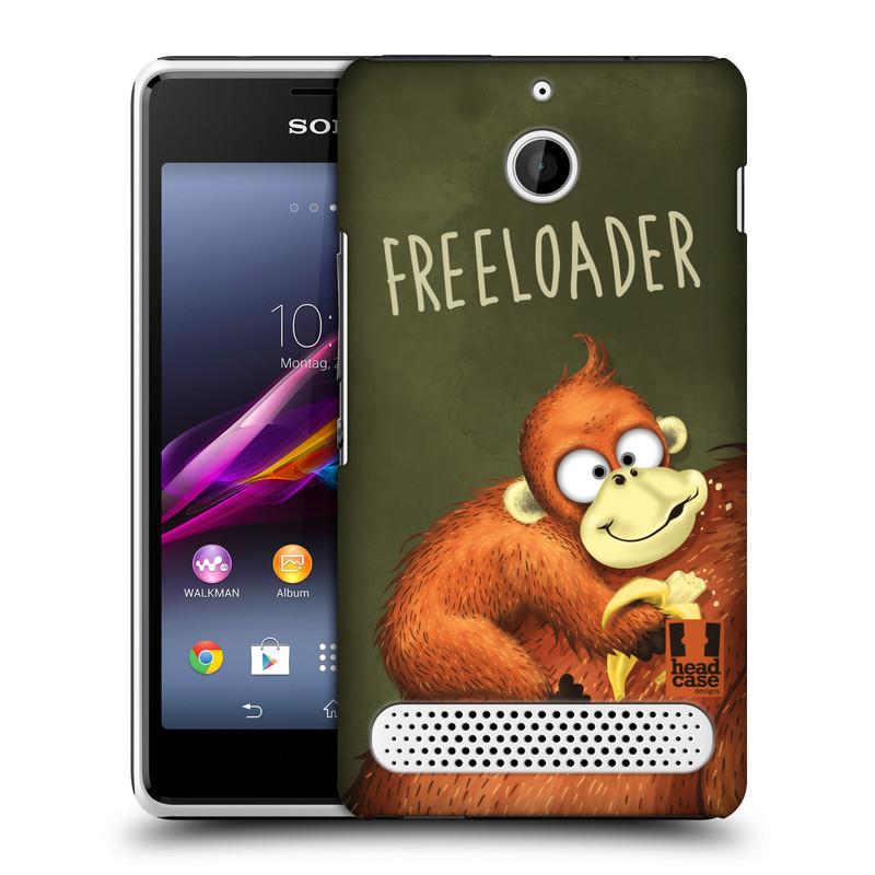 Plastové pouzdro na mobil Sony Xperia E1 D2005 HEAD CASE Opičák Freeloader (Kryt či obal na mobilní telefon Sony Xperia E1 a E1 Dual)