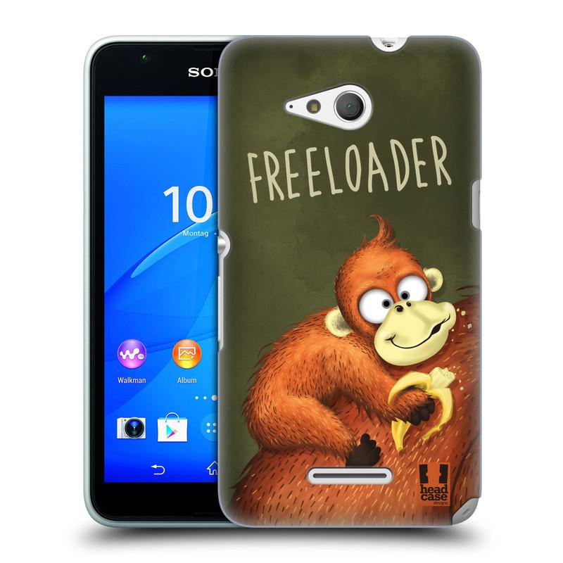 Plastové pouzdro na mobil Sony Xperia E4g E2003 HEAD CASE Opičák Freeloader (Kryt či obal na mobilní telefon Sony Xperia E4g a E4g Dual SIM)