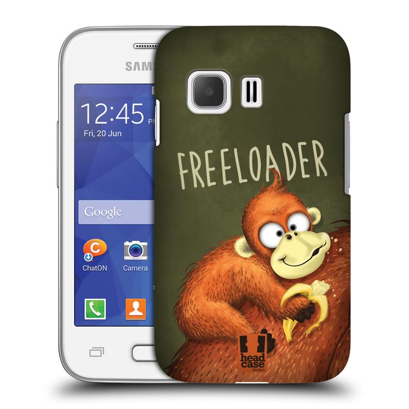 Plastové pouzdro na mobil Samsung Galaxy Young 2 HEAD CASE Opičák Freeloader (Kryt či obal na mobilní telefon Samsung Galaxy Young 2 SM-G130)