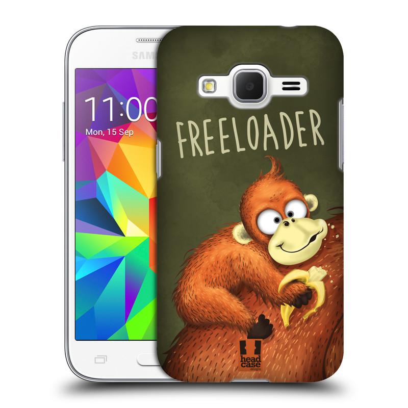 Plastové pouzdro na mobil Samsung Galaxy Core Prime LTE HEAD CASE Opičák Freeloader (Kryt či obal na mobilní telefon Samsung Galaxy Core Prime LTE SM-G360)