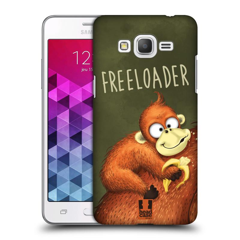 Plastové pouzdro na mobil Samsung Galaxy Grand Prime HEAD CASE Opičák Freeloader (Kryt či obal na mobilní telefon Samsung Galaxy Grand Prime SM-G530)