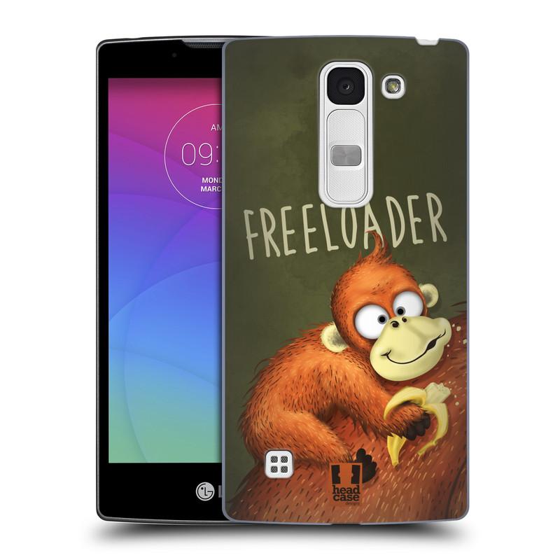 Plastové pouzdro na mobil LG Spirit LTE HEAD CASE Opičák Freeloader (Kryt či obal na mobilní telefon LG Spirit H420 a LG Spirit LTE H440N)
