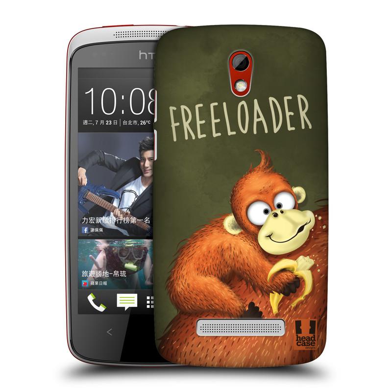 Plastové pouzdro na mobil HTC Desire 500 HEAD CASE Opičák Freeloader (Kryt či obal na mobilní telefon HTC Desire 500)