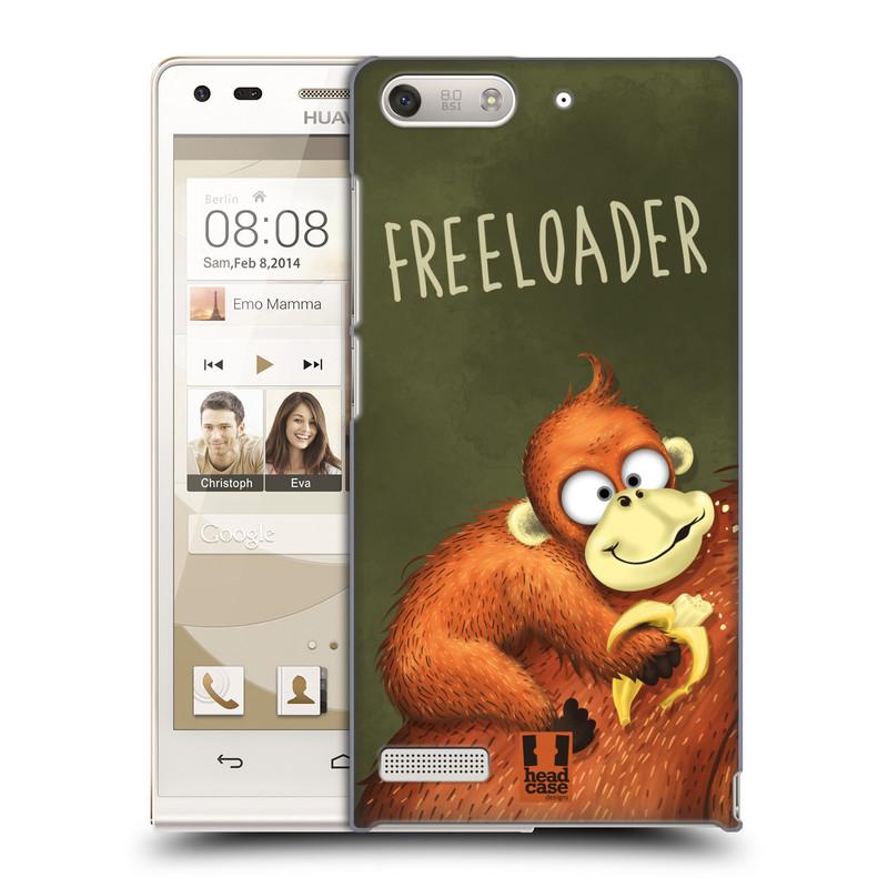 Plastové pouzdro na mobil Huawei Ascend G6 HEAD CASE Opičák Freeloader (Kryt či obal na mobilní telefon Huawei Ascend G6 bez LTE)