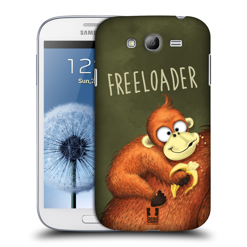 Plastové pouzdro na mobil Samsung Galaxy Grand Neo Plus HEAD CASE Opičák Freeloader (Kryt či obal na mobilní telefon Samsung Galaxy Grand Neo Plus GT-i9060i)