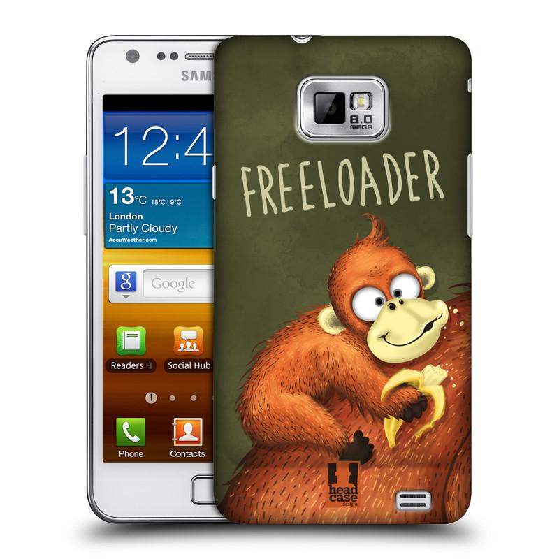 Plastové pouzdro na mobil Samsung Galaxy S II HEAD CASE Opičák Freeloader (Kryt či obal na mobilní telefon Samsung Galaxy S II GT-i9100)