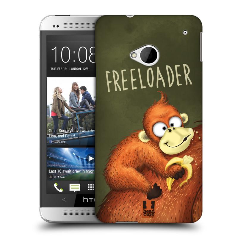 Plastové pouzdro na mobil HTC ONE M7 HEAD CASE Opičák Freeloader (Kryt či obal na mobilní telefon HTC ONE M7)