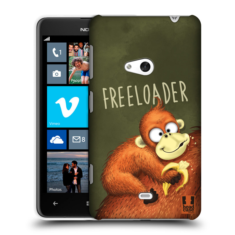 Plastové pouzdro na mobil Nokia Lumia 625 HEAD CASE Opičák Freeloader (Kryt či obal na mobilní telefon Nokia Lumia 625)