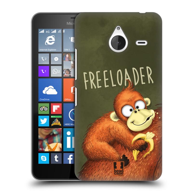 Plastové pouzdro na mobil Microsoft Lumia 640 XL HEAD CASE Opičák Freeloader (Kryt či obal na mobilní telefon Microsoft Lumia 640 XL)