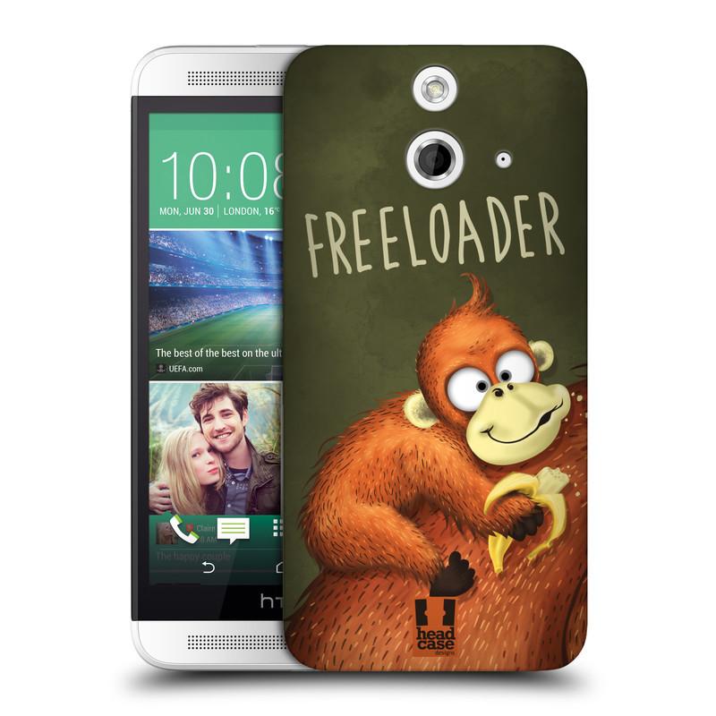 Plastové pouzdro na mobil HTC ONE E8 HEAD CASE Opičák Freeloader (Kryt či obal na mobilní telefon HTC ONE E8)