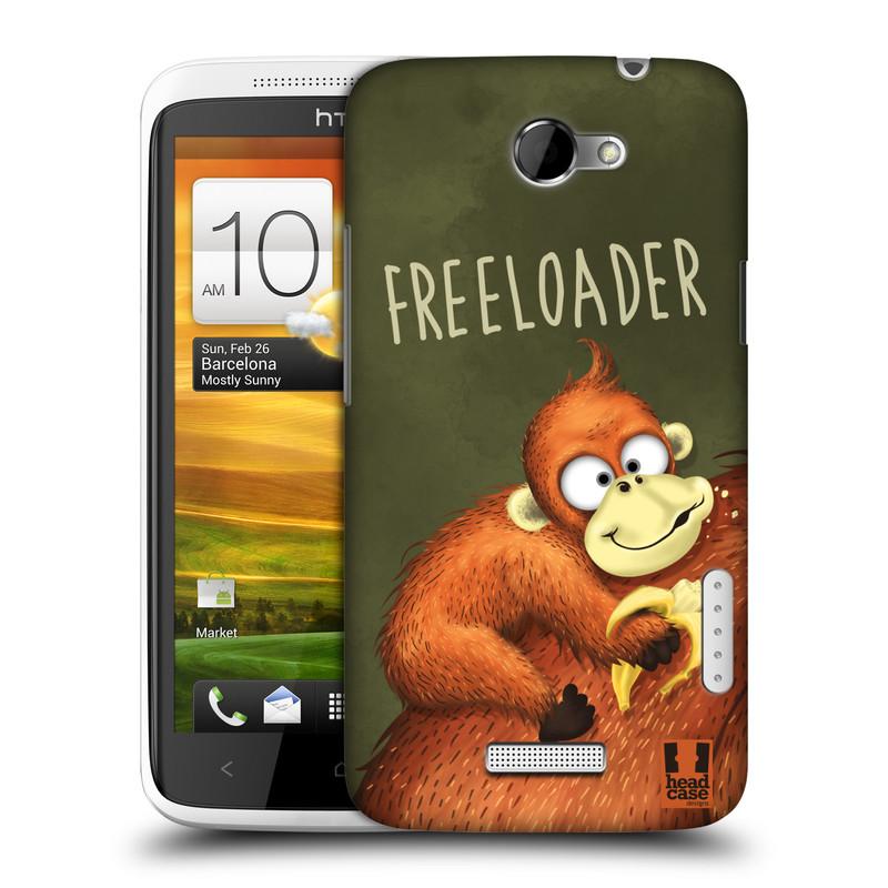 Plastové pouzdro na mobil HTC ONE X HEAD CASE Opičák Freeloader (Kryt či obal na mobilní telefon HTC ONE X)