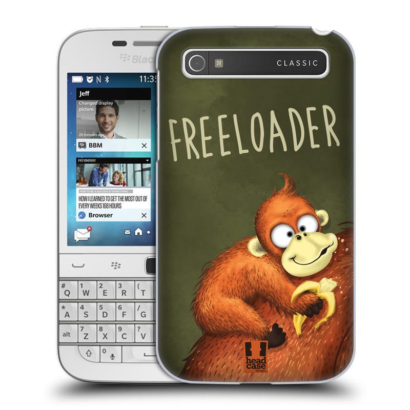 Plastové pouzdro na mobil Blackberry Classic HEAD CASE Opičák Freeloader (Kryt či obal na mobilní telefon Blackberry Classic)