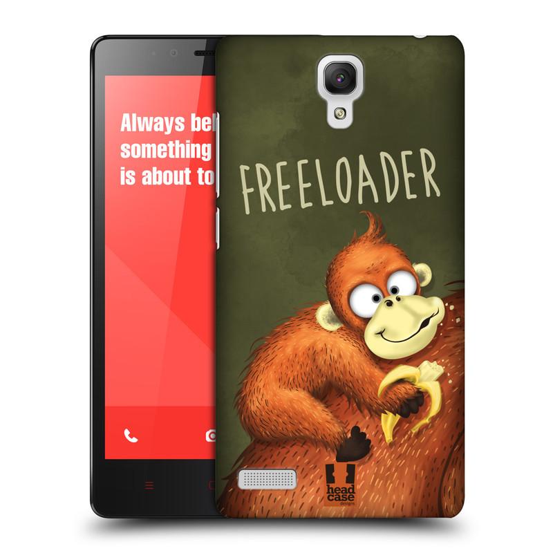 Plastové pouzdro na mobil Xiaomi Redmi Note LTE HEAD CASE Opičák Freeloader (Kryt či obal na mobilní telefon Xiaomi Redmi Note LTE (4G) s 5,5'' displejem)
