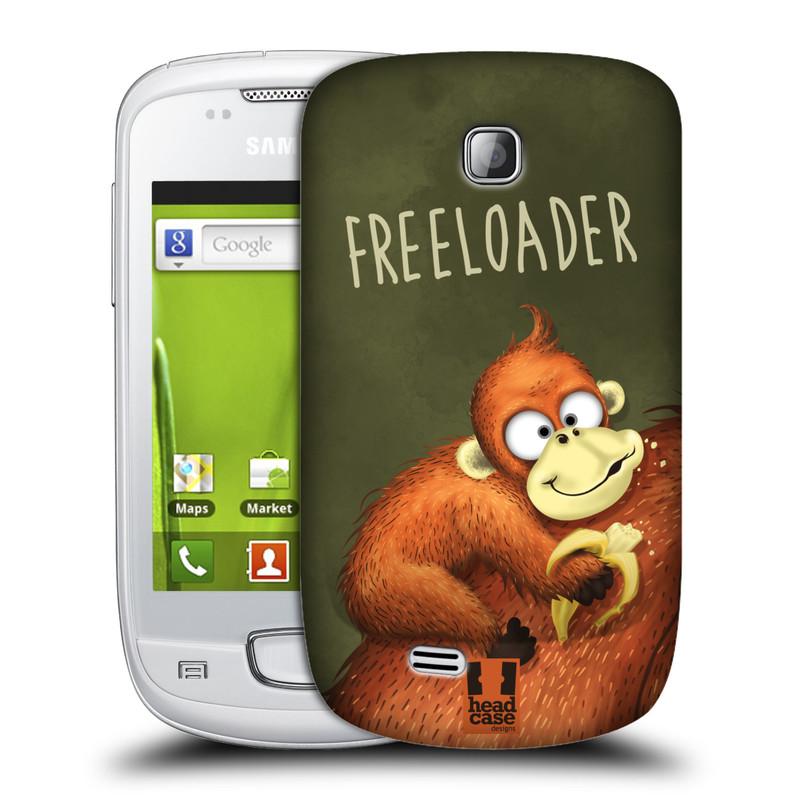 Plastové pouzdro na mobil Samsung Galaxy Mini HEAD CASE Opičák Freeloader (Kryt či obal na mobilní telefon Samsung Galaxy Mini GT-S5570 / GT-S5570i)