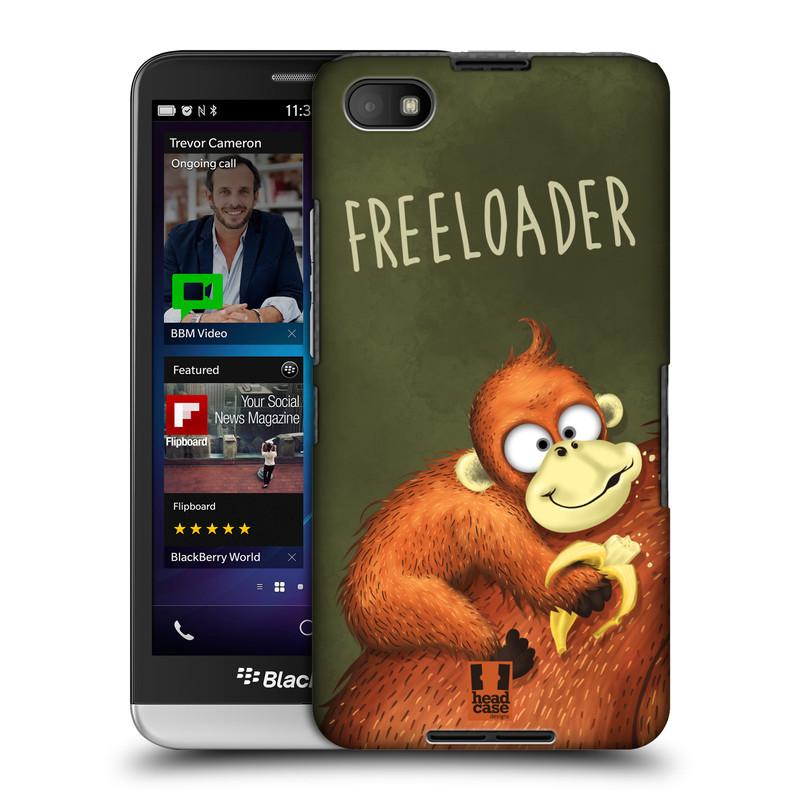 Plastové pouzdro na mobil Blackberry Z30 HEAD CASE Opičák Freeloader (Kryt či obal na mobilní telefon Blackberry Z30)