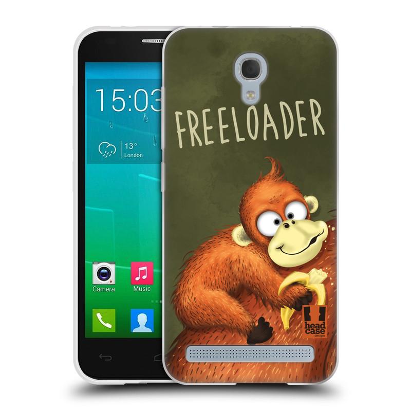 Silikonové pouzdro na mobil Alcatel One Touch Idol 2 Mini S 6036Y HEAD CASE Opičák Freeloader (Silikonový kryt či obal na mobilní telefon Alcatel Idol 2 Mini S OT-6036Y)