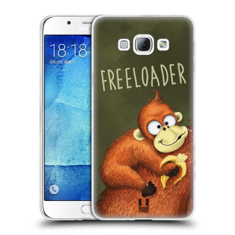 Silikonové pouzdro na mobil Samsung Galaxy A8 HEAD CASE Opičák Freeloader (Silikonový kryt či obal na mobilní telefon Samsung Galaxy A8 SM-A800)