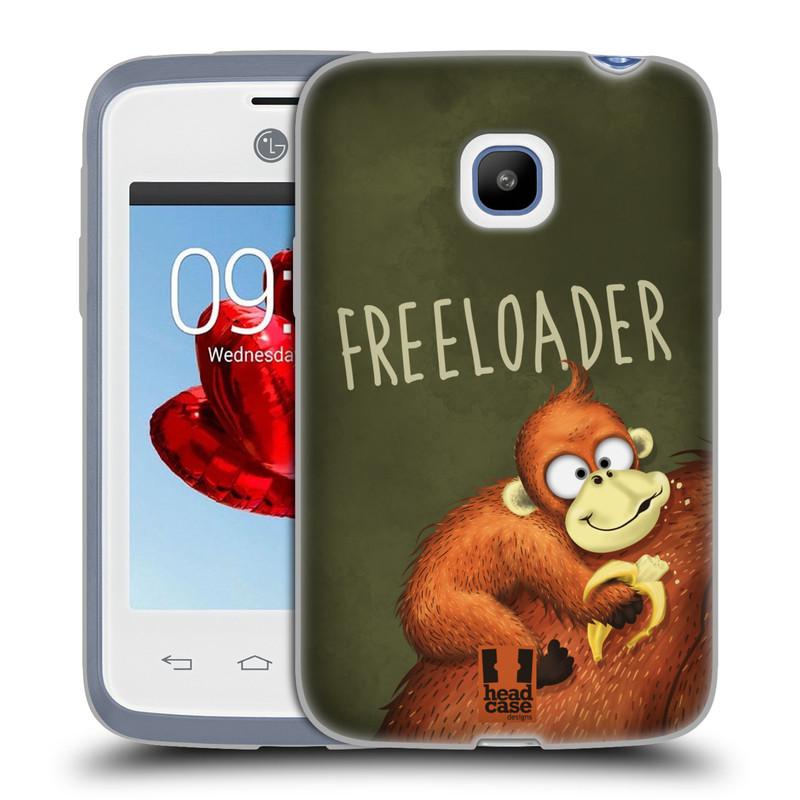 Silikonové pouzdro na mobil LG L20 HEAD CASE Opičák Freeloader (Silikonový kryt či obal na mobilní telefon LG L20 D107)