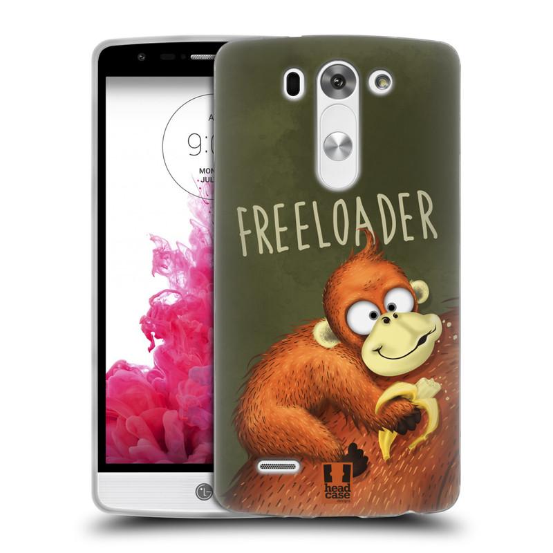 Silikonové pouzdro na mobil LG G3s HEAD CASE Opičák Freeloader (Silikonový kryt či obal na mobilní telefon LG G3s)