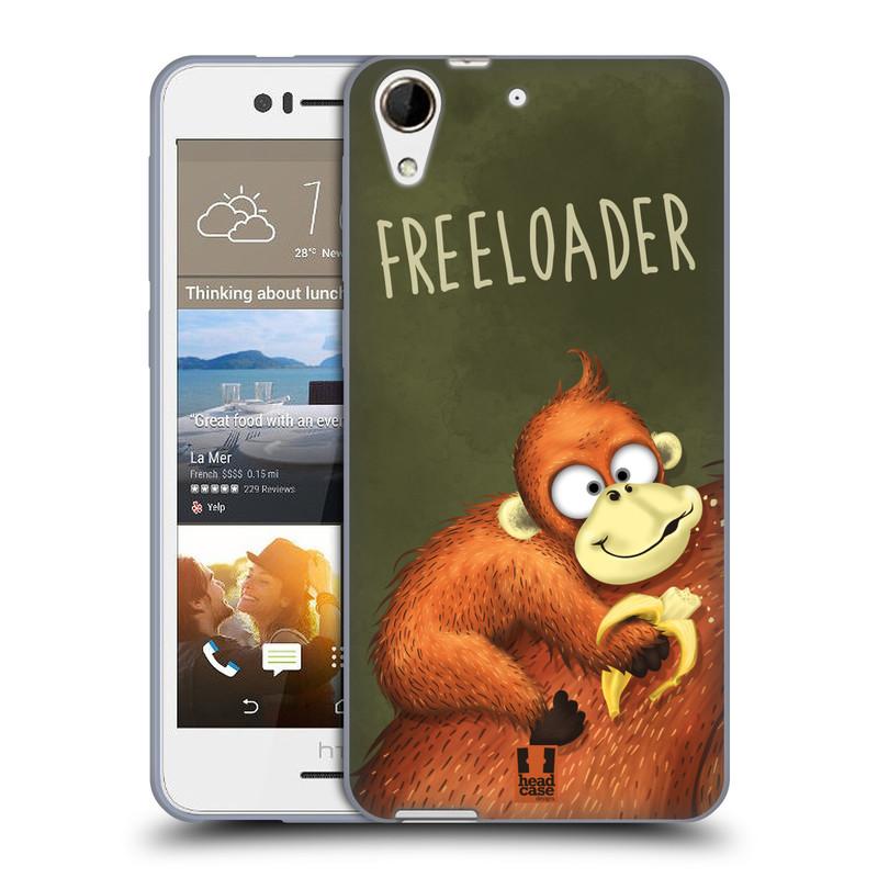 Silikonové pouzdro na mobil HTC Desire 728G Dual SIM HEAD CASE Opičák Freeloader (Silikonový kryt či obal na mobilní telefon HTC Desire 728 G Dual SIM)