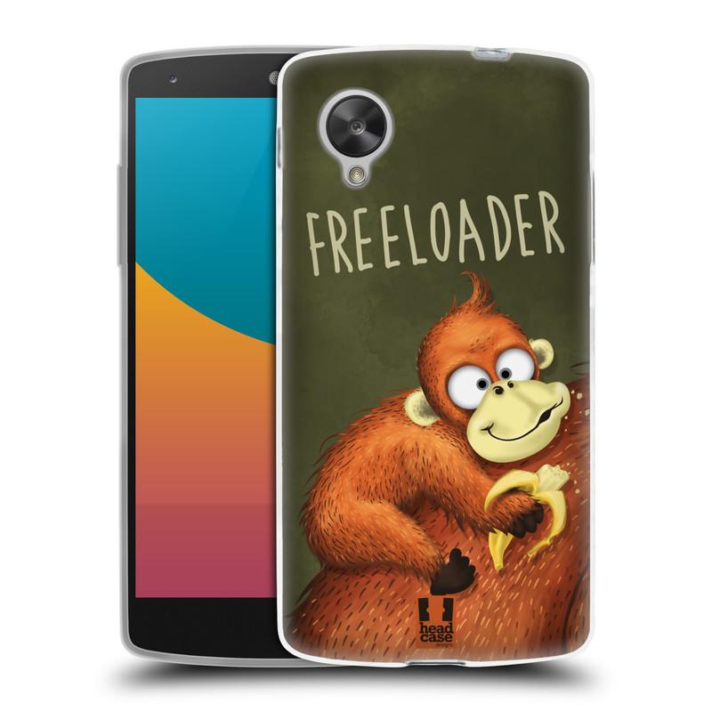 Silikonové pouzdro na mobil LG Nexus 5 HEAD CASE Opičák Freeloader (Silikonový kryt či obal na mobilní telefon LG Google Nexus 5 D821)