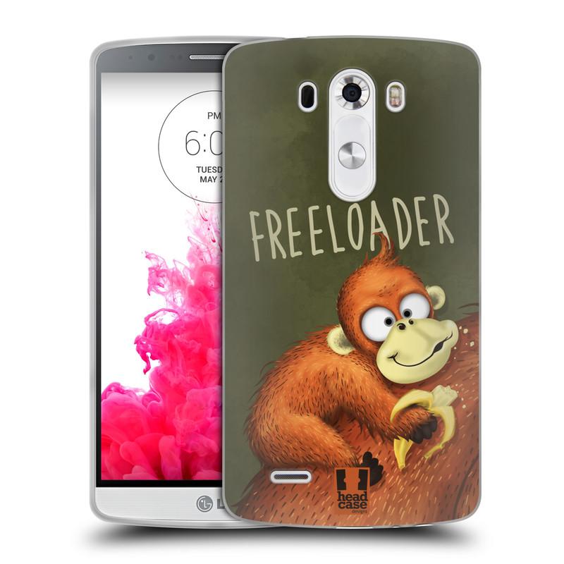 Silikonové pouzdro na mobil LG G3 HEAD CASE Opičák Freeloader (Silikonový kryt či obal na mobilní telefon LG G3)