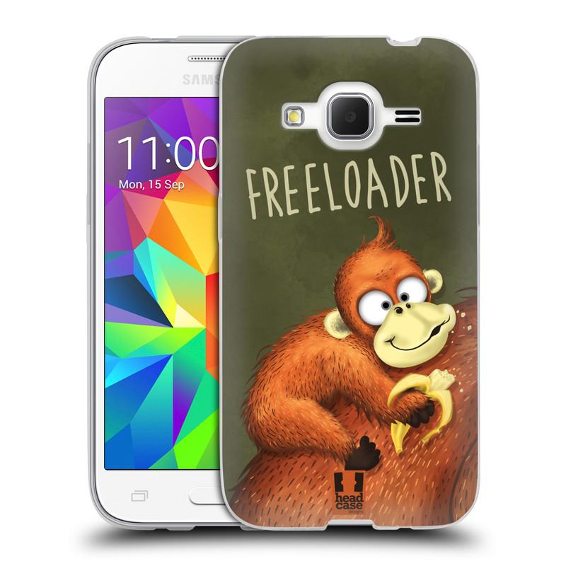 Silikonové pouzdro na mobil Samsung Galaxy Core Prime LTE HEAD CASE Opičák Freeloader (Silikonový kryt či obal na mobilní telefon Samsung Galaxy Core Prime LTE SM-G360)