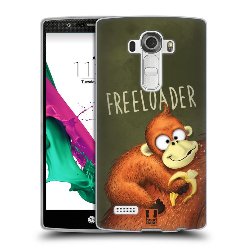 Silikonové pouzdro na mobil LG G4 HEAD CASE Opičák Freeloader (Silikonový kryt či obal na mobilní telefon LG G4 H815)