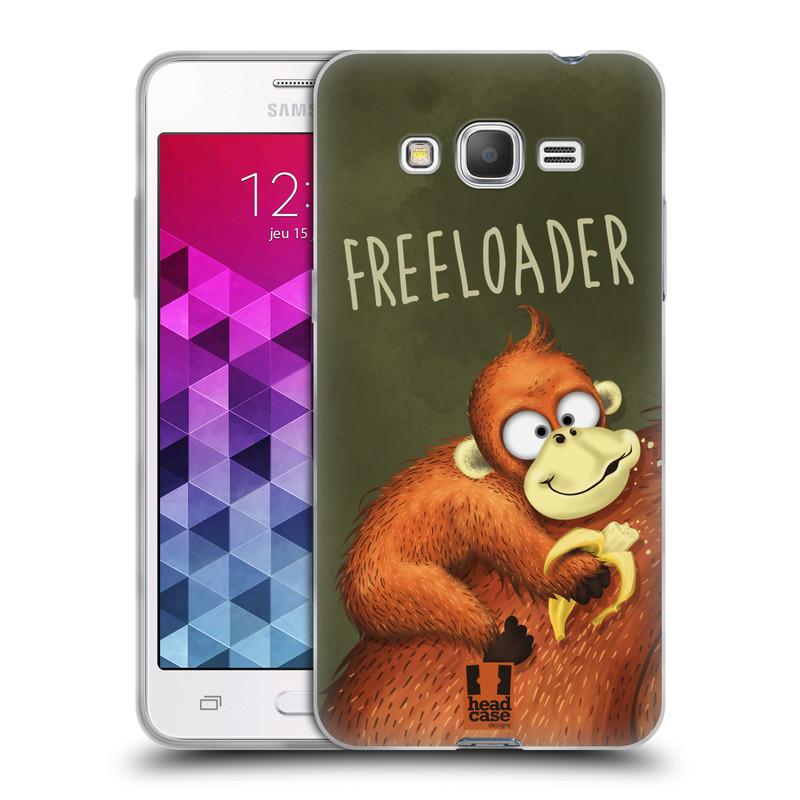 Silikonové pouzdro na mobil Samsung Galaxy Grand Prime VE HEAD CASE Opičák Freeloader (Silikonový kryt či obal na mobilní telefon Samsung Galaxy Grand Prime VE SM-G531F)