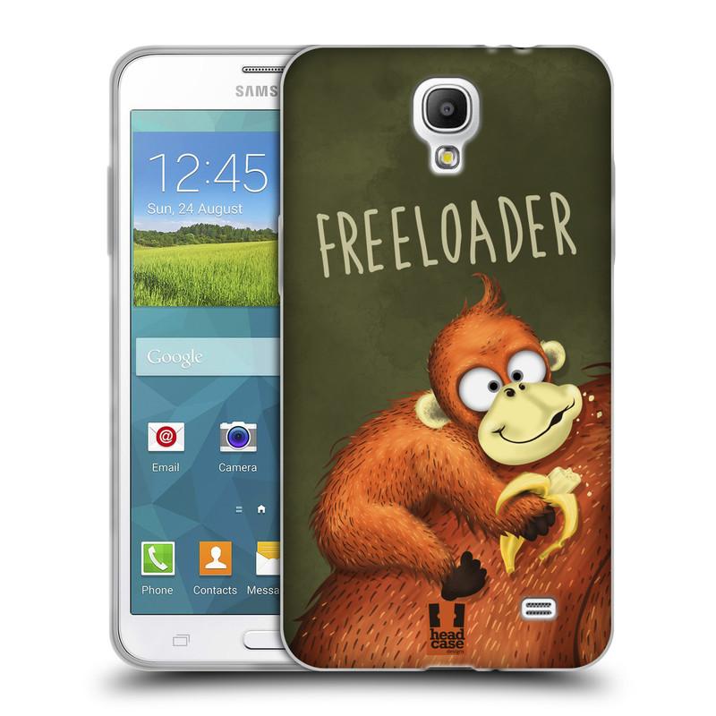 Silikonové pouzdro na mobil Samsung Galaxy Grand Mega 2 HEAD CASE Opičák Freeloader (Silikonový kryt či obal na mobilní telefon Samsung Galaxy Grand Mega 2 SM-G750)