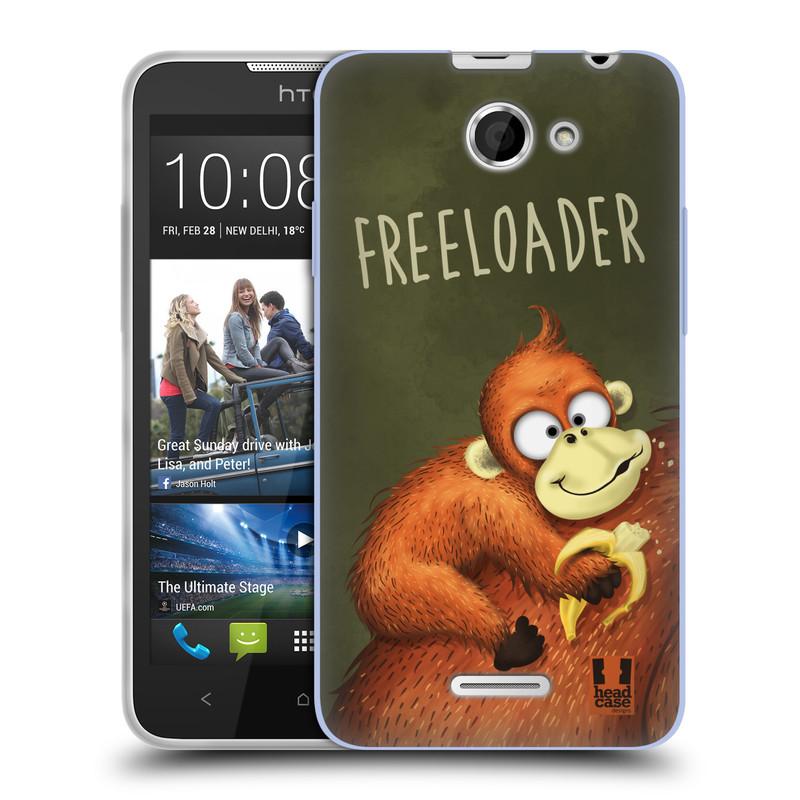 Silikonové pouzdro na mobil HTC Desire 516 HEAD CASE Opičák Freeloader (Silikonový kryt či obal na mobilní telefon HTC Desire 516 Dual SIM)