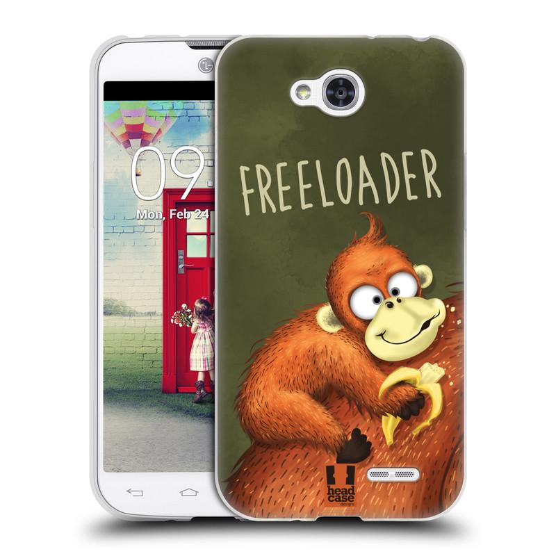 Silikonové pouzdro na mobil LG L90 HEAD CASE Opičák Freeloader (Silikonový kryt či obal na mobilní telefon LG L90 D405n)