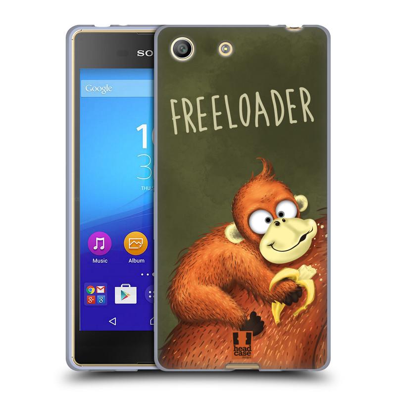 Silikonové pouzdro na mobil Sony Xperia M5 HEAD CASE Opičák Freeloader (Silikonový kryt či obal na mobilní telefon Sony Xperia M5 Dual SIM / Aqua)