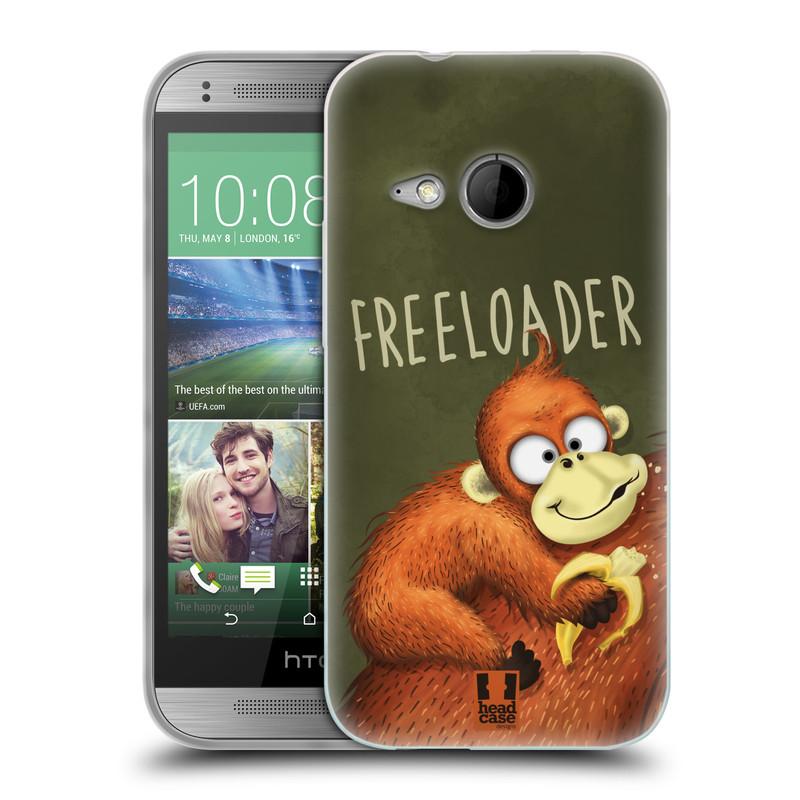 Silikonové pouzdro na mobil HTC ONE Mini 2 HEAD CASE Opičák Freeloader (Silikonový kryt či obal na mobilní telefon HTC ONE Mini 2)