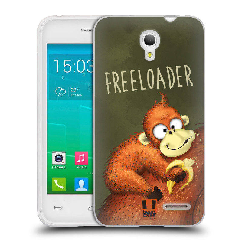 Silikonové pouzdro na mobil Alcatel One Touch Pop S3 HEAD CASE Opičák Freeloader (Silikonový kryt či obal na mobilní telefon Alcatel OT- 5050Y POP S3)