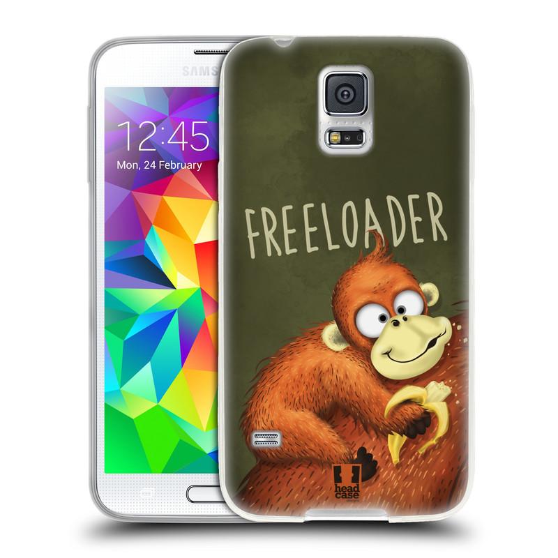 Silikonové pouzdro na mobil Samsung Galaxy S5 HEAD CASE Opičák Freeloader (Silikonový kryt či obal na mobilní telefon Samsung Galaxy S5 SM-G900F)