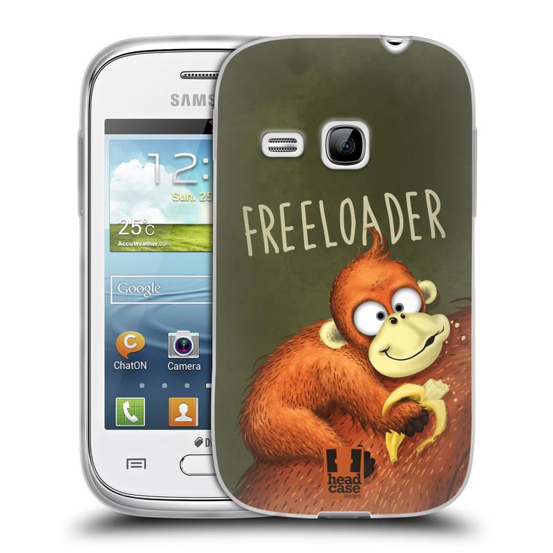 Silikonové pouzdro na mobil Samsung Galaxy Young HEAD CASE Opičák Freeloader (Silikonový kryt či obal na mobilní telefon Samsung Galaxy Young GT-S6310)