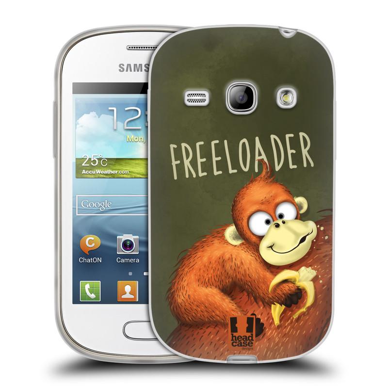 Silikonové pouzdro na mobil Samsung Galaxy Fame HEAD CASE Opičák Freeloader (Silikonový kryt či obal na mobilní telefon Samsung Galaxy Fame GT-S6810)