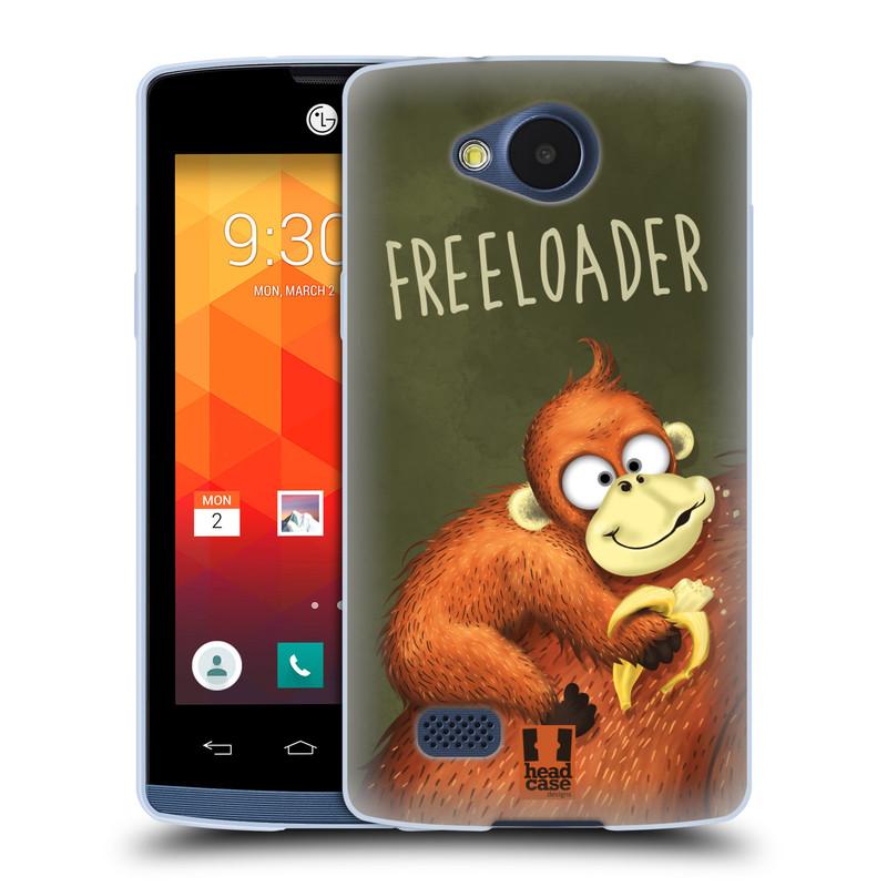 Silikonové pouzdro na mobil LG Joy HEAD CASE Opičák Freeloader (Silikonový kryt či obal na mobilní telefon LG Joy H220)